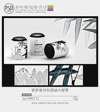 中国风茶叶罐包装设计素材 PSD