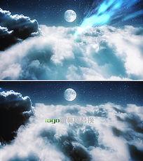 大气震撼天空云层穿越logo演绎ae模板