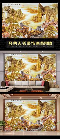 长城风景背景墙