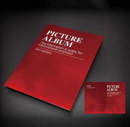 红色简洁画册封面设计图片