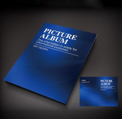 深蓝色背景画册封面设计图片