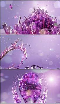 水晶紫色宝石视频背景 mov