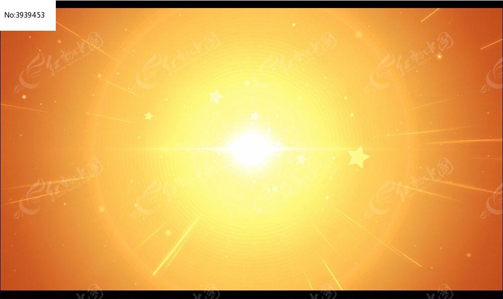 好看的视频背景_刺眼散射太阳光视频背景
