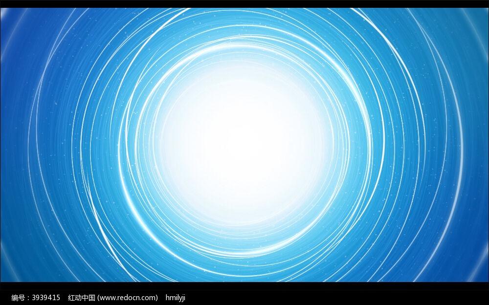 视频背景_蓝色线圈扩散动态视频背景