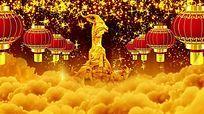 喜庆金色羊年大红灯笼动态视频