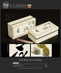 花开富贵茶礼盒包装设计展开图