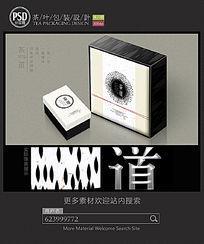 素雅茶叶包装设计展开图