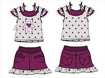 女童T恤女童短裙 CDR
