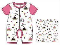 婴儿爬服款式设计 CDR