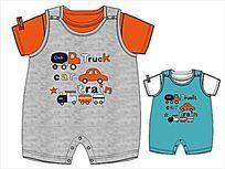 婴童家居服款式矢量手稿 CDR