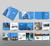 蓝色建筑企业画册版式素材