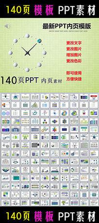 140个PPT图表表格打包下载