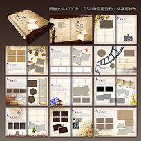 欧式风格纪念册版式设计