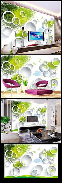 3D梦幻大树电视背景墙大型壁画