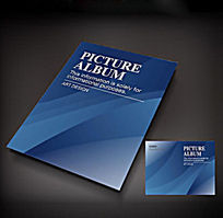 蓝色科技创新画册封面设计 ai图片