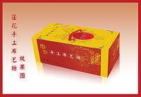 中国红足生莲手工布鞋包装盒