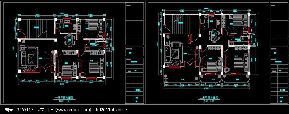 标签:CAD家装平面布置图 原始结构图 装修设计 室内平面布置-15款