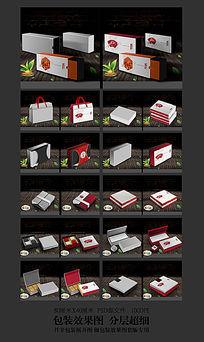 礼盒包装3D效果图模板