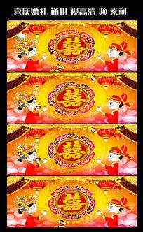 中国传统喜庆婚礼片头视频素材