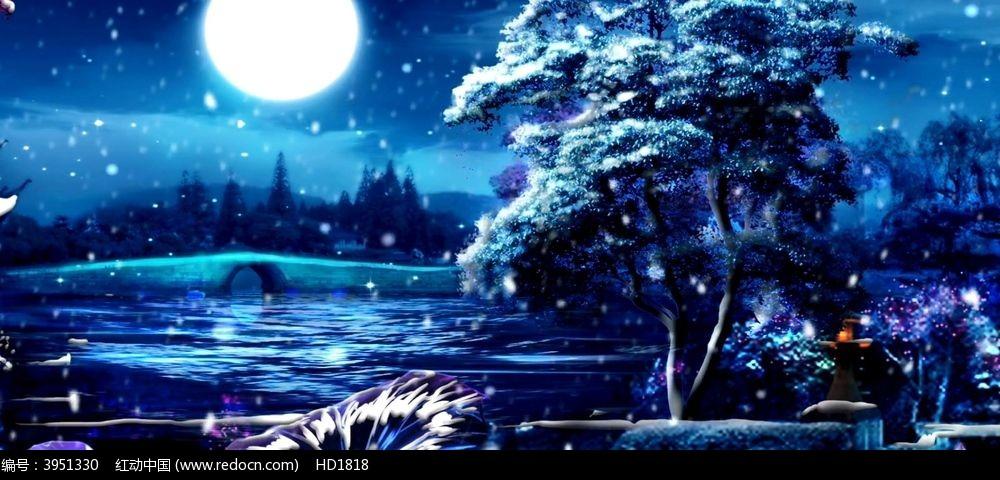 月亮 中秋节节日舞台背景