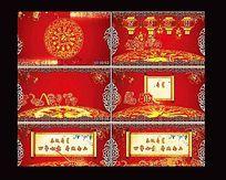 红色喜庆祝寿动态片头视频