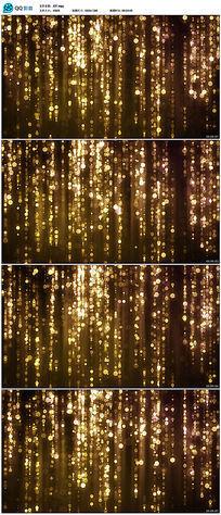 金色粒子雨瀑布动态舞台
