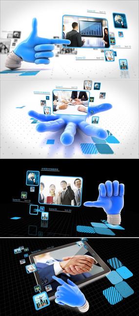 科技企业宣传ae模板