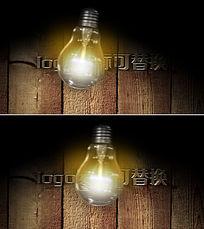 灯泡摇晃发光logo演绎ae模板