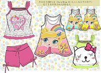 韩版女童夏装款式图cdr格式