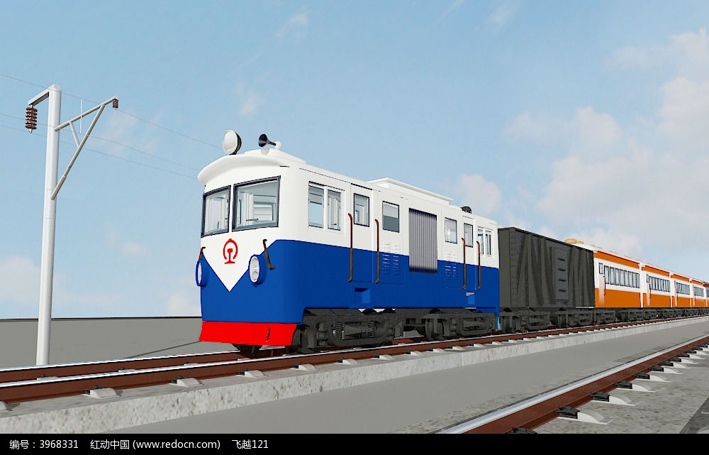 火车3d模型图片
