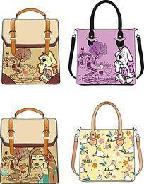 卡通时尚女包 手提包 单肩包 原创款式图  箱包设计