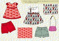 可爱童裙设计手稿矢量CDR