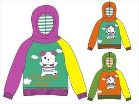 可爱小熊韩版童装卫衣设计手稿矢量
