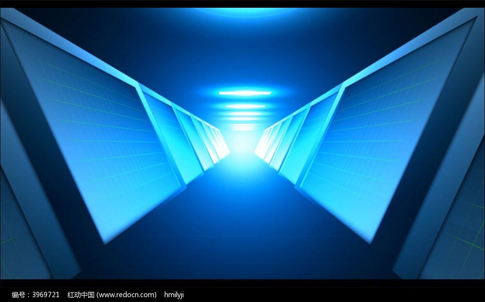 视频背景_科技走廊大厅背景视频