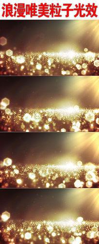 浪漫唯美粒子光效背景视频