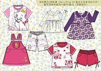 时尚女童款式手稿cdr格式