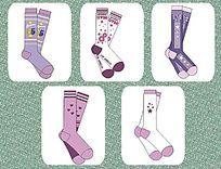 袜子设计 CDR