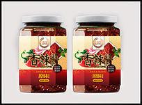 香辣酱包装标签设计