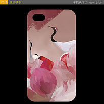仙鹤手机壳图案设计