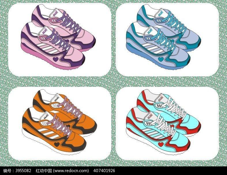 休闲运动鞋设计矢量手稿 板鞋 球鞋鞋样设计图片