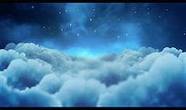 夜晚蓝天白云背景视频