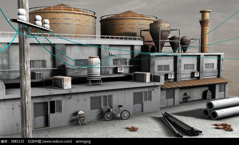 maya场景建模3d模型