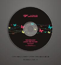 黑色蝴蝶图案光盘封面设计