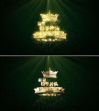 金色粒子logo开场片头ae模板
