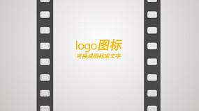 电影胶卷logo开场ae模板