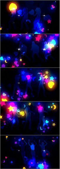 动感剪影舞蹈背景视频