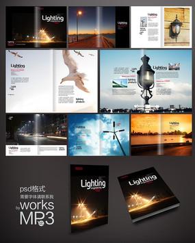 旅游宣传画册模版 PSD