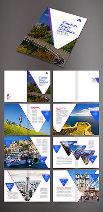 三角形商业画册模版设计