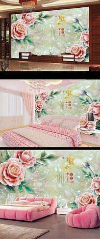 2015年最美玉雕电视背景墙