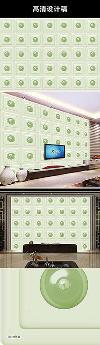 立体翡翠瓷砖背景墙